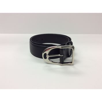 Sandy Duftler Mini Stirrup Belt Black Lamb with Silver Buckle