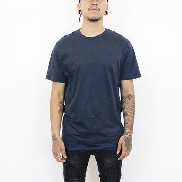 Jake Basic T-Shirt (Navy blue/White)