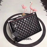 CHANEL WOMEN'S HOT STYLE LEATHER ZIPPER HAND BAG