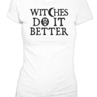 Witches Do It Better - Women's White Tee | Black Craft