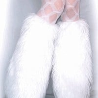 White Rave Fluffies, Fluffy Leg Warmers