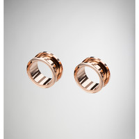 Rose Gold Screw Tunnel Set
