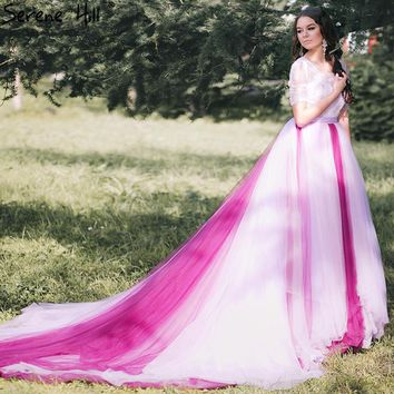 Mixed color beading backless wedding dresses sexy women wedding dress gown