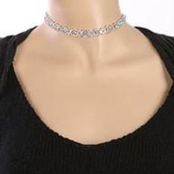 AURORA RHINESTONE CHOKER  NECKLACE AND EARRING SET