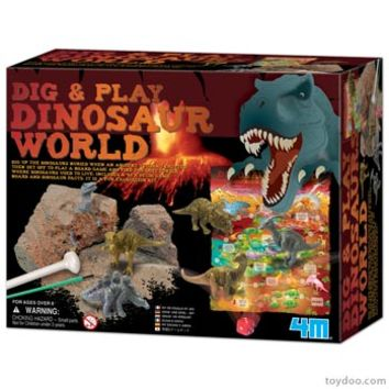 4M Dig and Play Dinosaurs World Kit - Toysmith - Pack of 6 kits