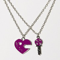 Heart and Key Friendship Necklace Set  | Claire's