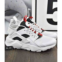 Nike Air Huarache Trendy Men and Women Woven Jogging Shoes F-A36H-MY White