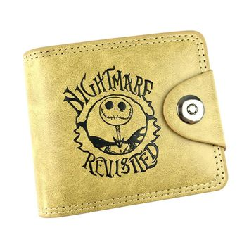 Hot Cartoon Nightmare Before Christmas Purse Dollar Price Money Bag Card Holder Zipper Coin Wallets Gifts Kids Leather Wallet