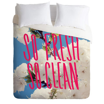 Leah Flores So Fresh So Clean Duvet Cover