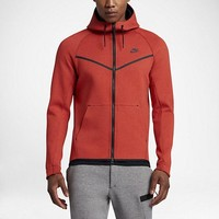 KUYOU Nike Tech Fleece Windrunner Jacket (Max Orange/Black)