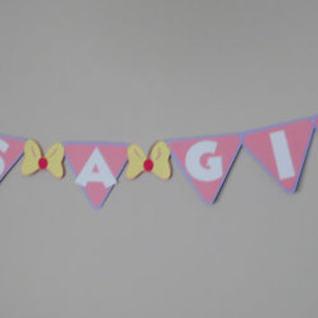 Minnie Mouse Girls Baby Shower Banner by Tinks25 on Etsy