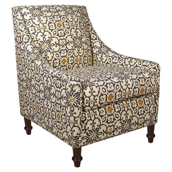 Holmes Armchair, Gray/Yellow Floral, Accent & Occasional Chairs