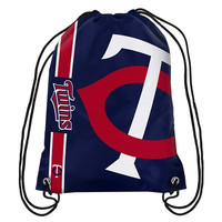 Minnesota Twins Official MLB Team Logo Drawstring Backpack