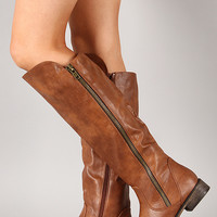 Breckelle Clayton-12 Zipper Riding Knee High Boot