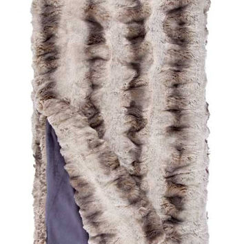 Truffle Chinchilla Couture Faux Fur Throw Blanket by Fabulous Furs