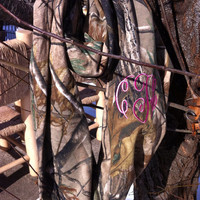 Monogrammed Camouflage Infinity Scarf - Real Tree Camo
