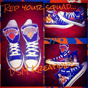 Custom NY Knicks/Carmelo Anthony Converse All Stars Chucks