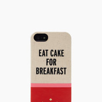 eat cake for breakfast iphone 5 case - kate spade new york