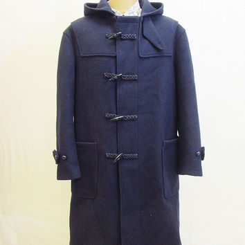 Vintage 70s AMAZING RikSon Proper Duffel Duffle Lined Winter Coat Large