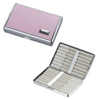 Visol Cynthia Pink Leather Double Sided Cigarette Case
