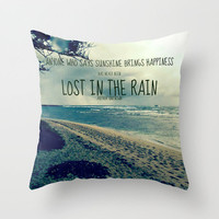 RAINING ON THE NORTH SHORE  Throw Pillow by Tara Yarte  | Society6
