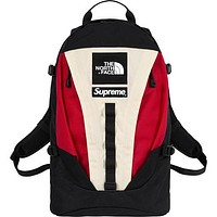 The North Face & Supreme Fashion New High Capacity Women Men Travel Leisure Backpack Bag