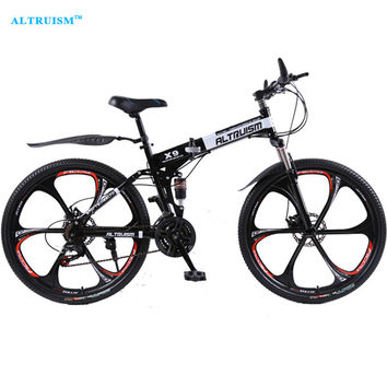 Professional Altruism X9 Road Mountain Bikes 26-inch Steel 21-Speed Bicycles Dual Disc Brakes FREE SHIPPING!
