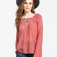 Volcom Flea Market Find Womens Top Brick  In Sizes