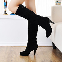 Winter Women/Girl's Devise Sexy Faux Suede  High Heels Boots 4 Colors AU Sizes:4-8