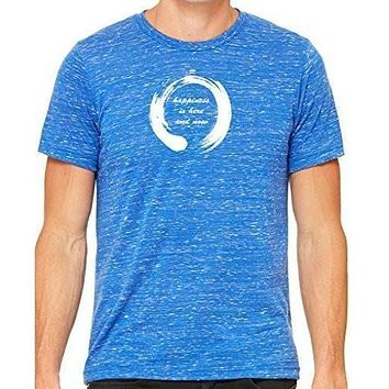 Yoga Clothing for You Mens Zen Happiness Marble Tee Shirt