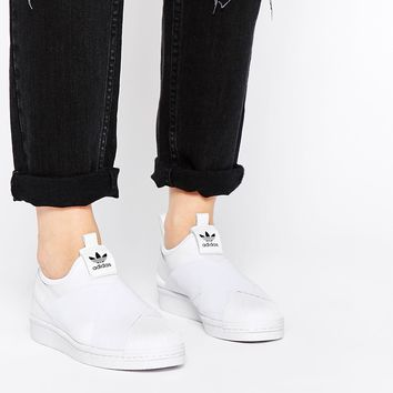 adidas Originals Superstar Slip On White Trainers