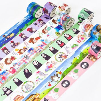 1 Pcs/set Cute DIY Japanese Paper Decorative Adhesive Tape Cartoon Anime Washi Tape/Masking Tape Stickers