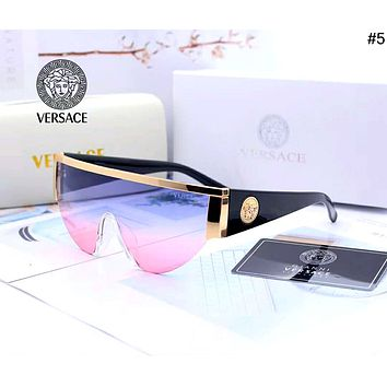 Versace 2019 new men and women models simple wild color film polarized sunglasses #5