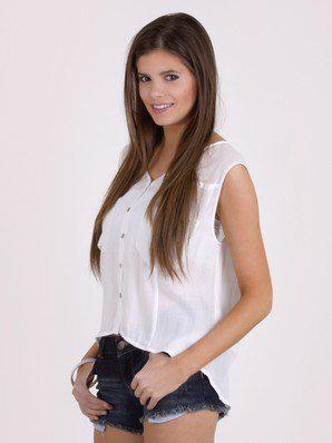 White Out Double Pocket Tank by Sketchbook @ FrockCandy.com