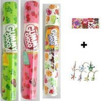 Meiji Gummy Choco Strawberry, Mucat, and Fruit Mix Candies + 2 Free Randomly Picked Pokemon Keychains!