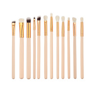 Professional Portable 12PCS Foundation Eyes Shadow Makeup Brushes Set Facial Cosmetic Brushes Tool
