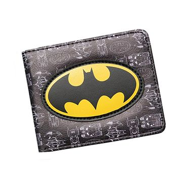 New DC Marvel Comic Wallet carteira feminina Men Wallets Short 3D Slim Prints Cards License Money Bags Boys Girls Leather purse