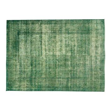 """Pre-owned Persian Green Blue Overdyed Rug - 9'10"""" x 12'11"""""""