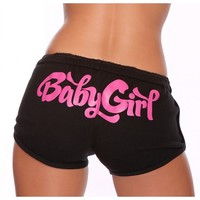Shemar Moore Merchandise Baby Girl Booty Short Black/Pink - Booty Shorts