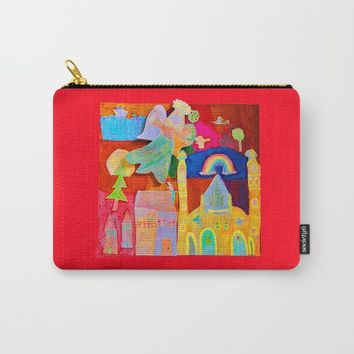 Rainbow Angel Carry-All Pouch by Azima