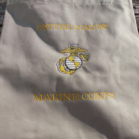 US Marine Corps Embroidered Tote Bag, Grocery, Market Tote, Eco Friendly Tote