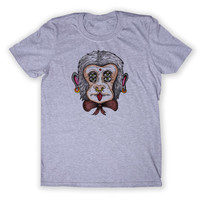 Alternative Monkey Tee Trippy Psychedelic Punk Hipster Graphic Animal T-shirt
