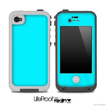 Solid Blue Turquoise Skin for the iPhone 5 or 4/4s LifeProof Case