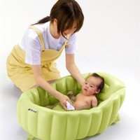 Japanese Soft Puffy Airy Cushion Bath Tub for Baby Babies Portable JAPAN