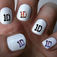 One Direction Nail decal Tattoos