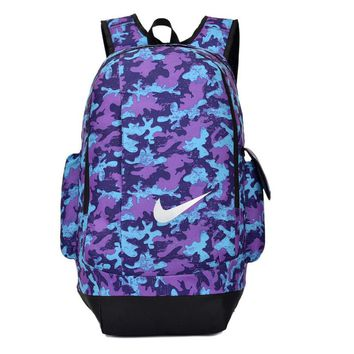 NIKE Fashion Camouflage Print Sport Shoulder Bag Travel Bag School Backpack