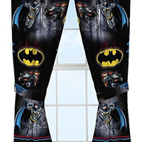 Warner Bros Batman Safe Again Window Drapes, 82 x 63""