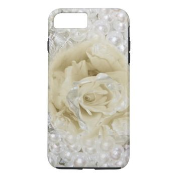 Pearl Rose Floral Art I Phone iPhone 7 Plus Case