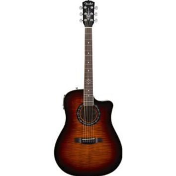 Fender Limited Edition Quilted Maple T-Bucket 300CE Cutaway Acoustic-Electric Guitar -Cherry Burst