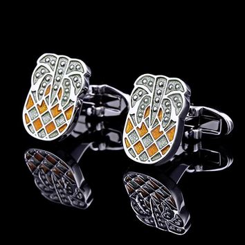 Fashionable Sparkling Pineapple Cufflinks